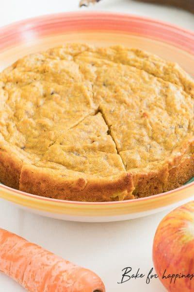 Sugar-free Apple Carrot Cake