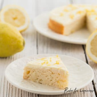 low-fat sugar-free lemon cake