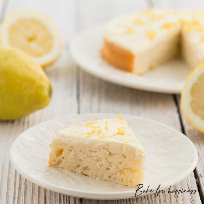 low-fat sugar-free lemon cake