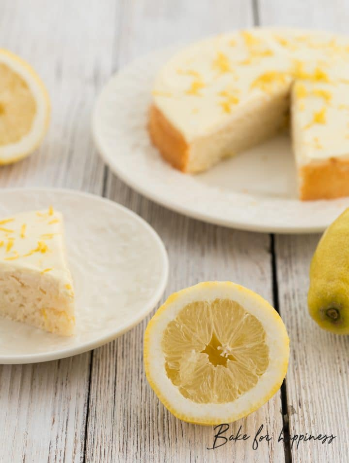 sugar-free lemon cake without fat