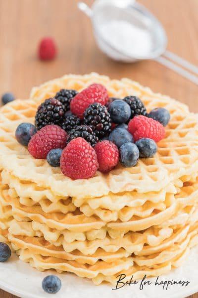 Waffle recipe: Simple classic wafer dough