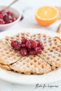 Winter waffles with cinnamon, nuts and co.