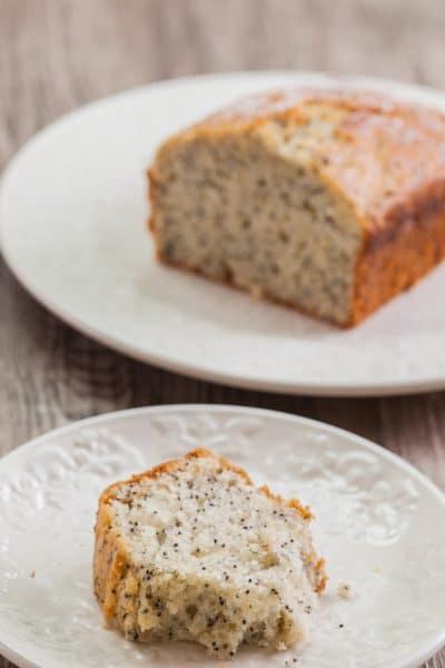 Lemon cake with rice syrup