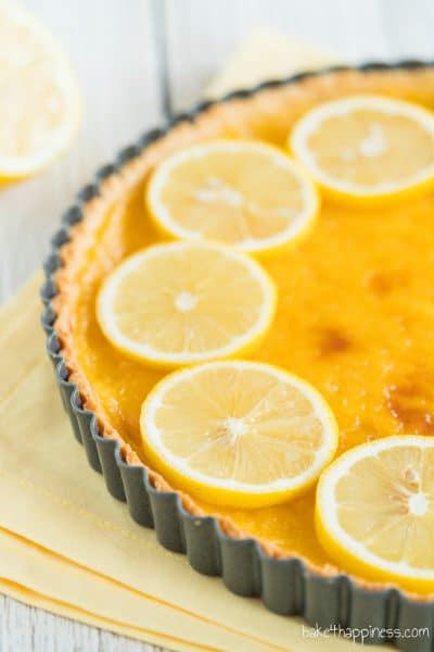 Tarte au citron: French lemon tart