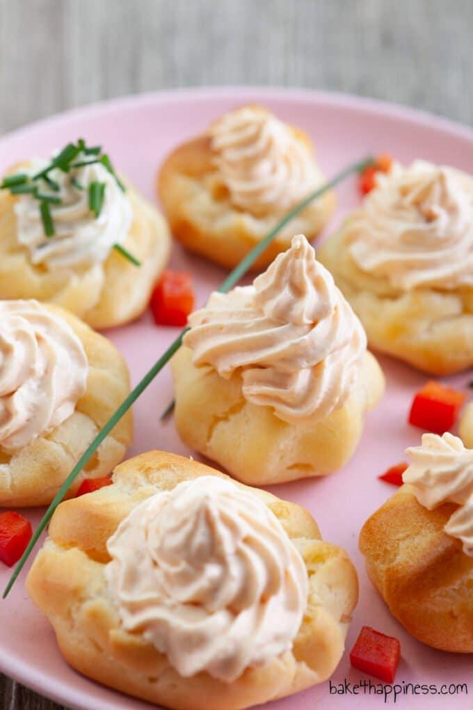 Savory Cream Puffs with Cream Cheese