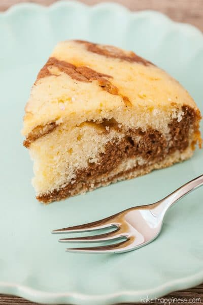 Zebra cake with cream instead of butter
