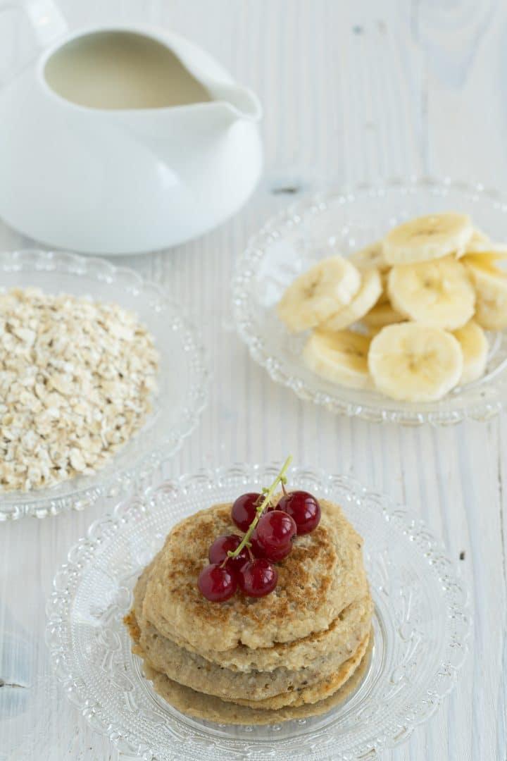 Vegan pancakes without egg, flour, sugar