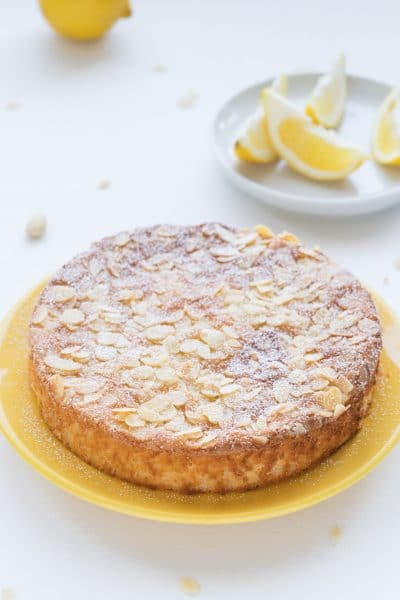 Deliciously moist Gluten-Free Lemon Cake with Almonds