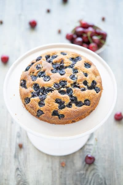 Easy & Moist Cherry Cake with Nuts