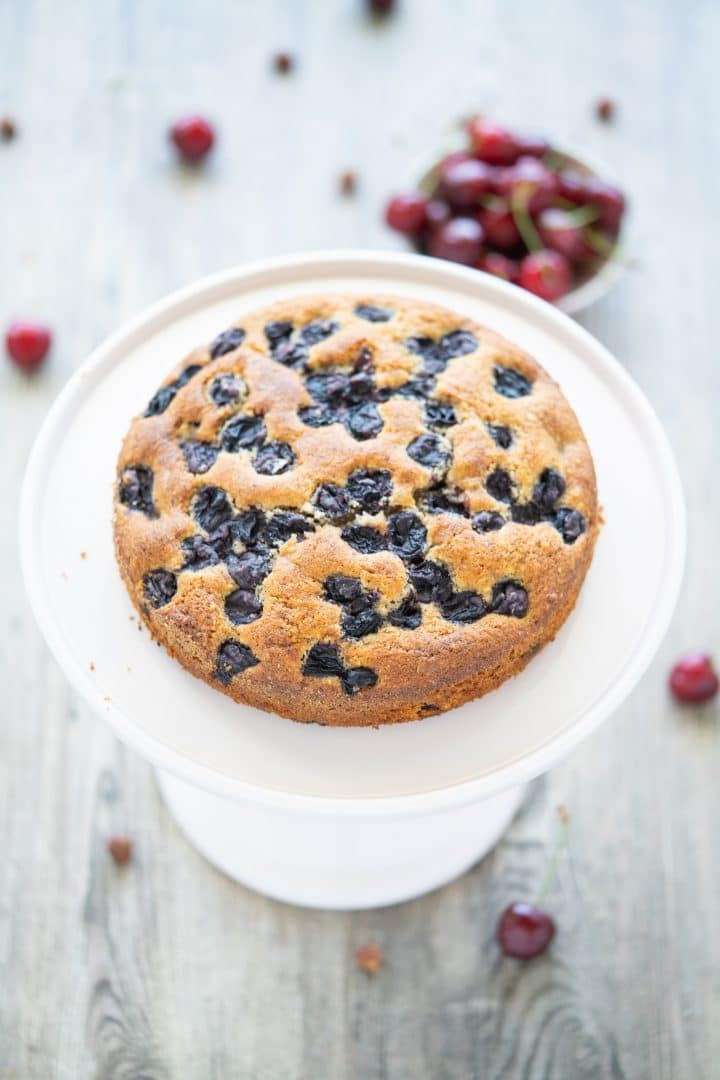 Nut cake with cherries easy moist