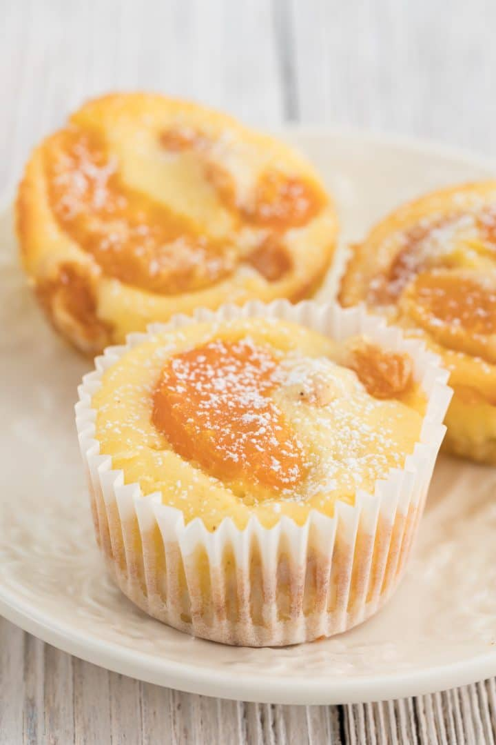 Cheesecake muffins with mandarins