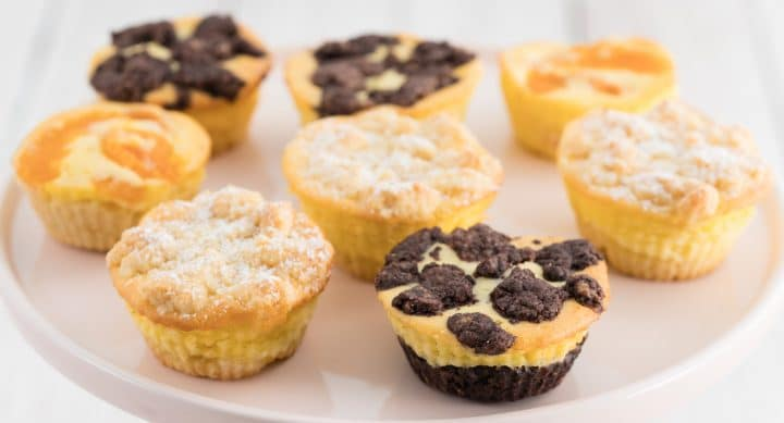Different versions of the Cheesecake Muffins