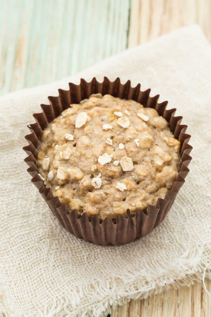 Low-fat banana oat muffins
