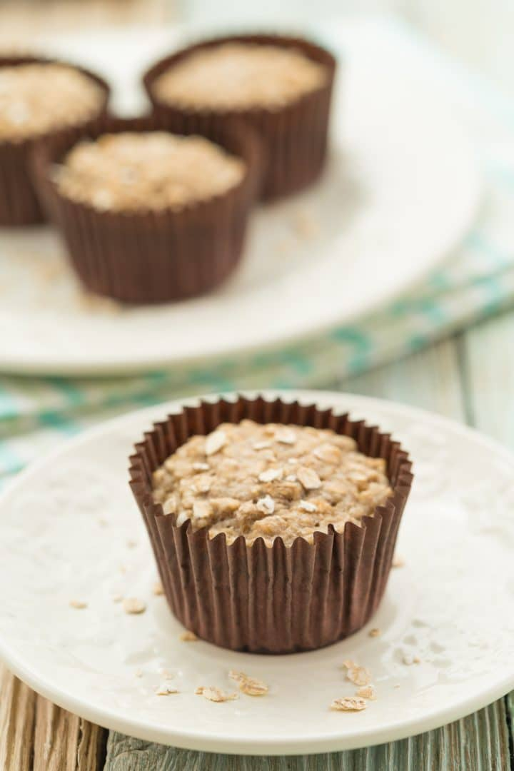 egg-free banana oatmeal muffins