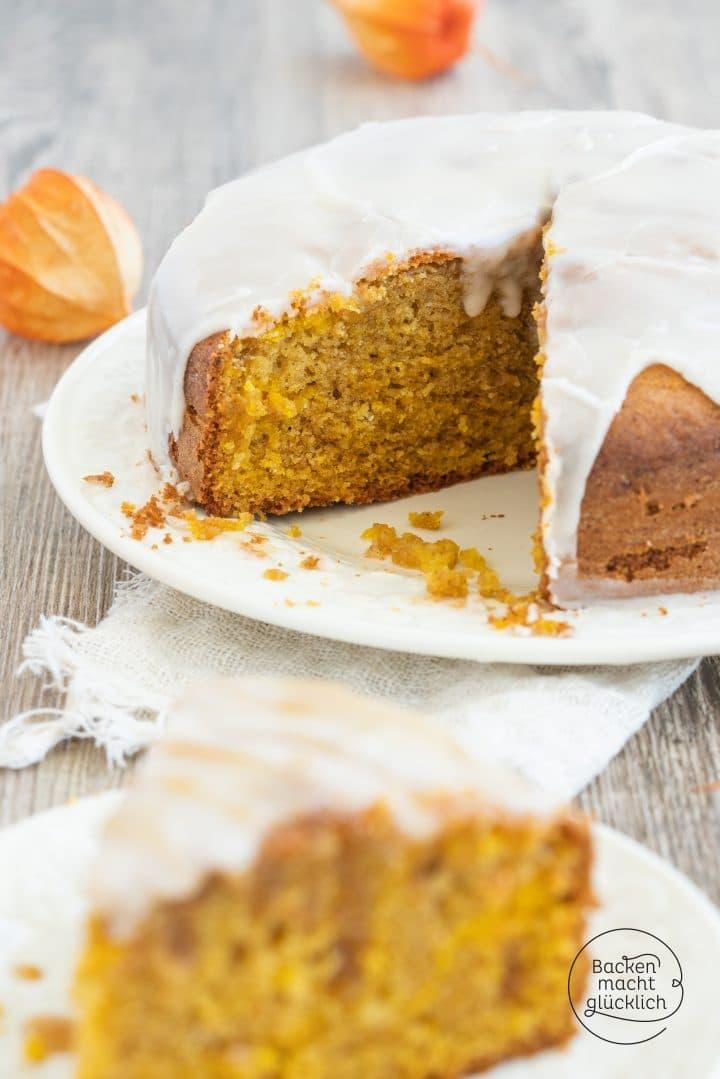 Pumpkin pie oil sponge cake