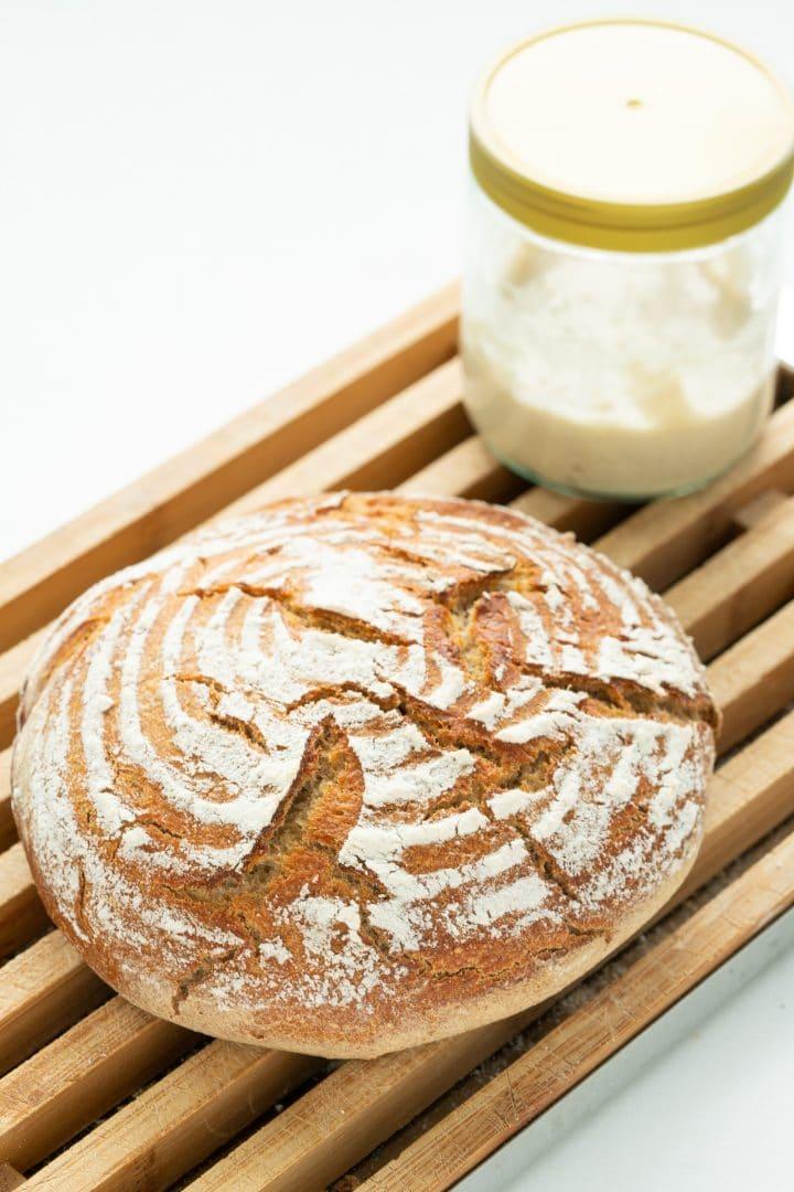 beginner's sourdough starter for bread