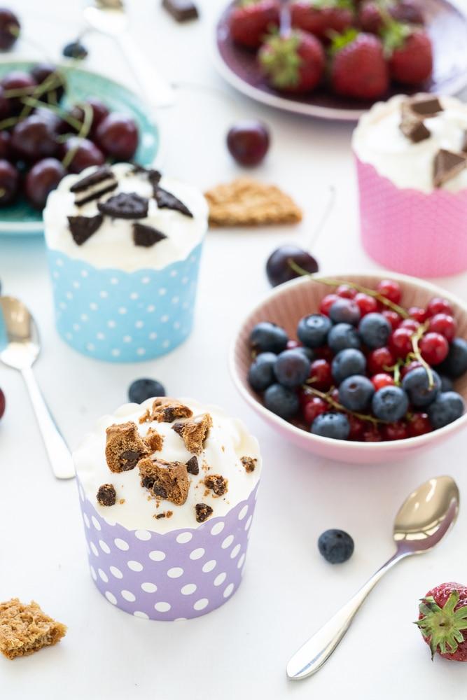 healthy sugar-free frozen yogurt