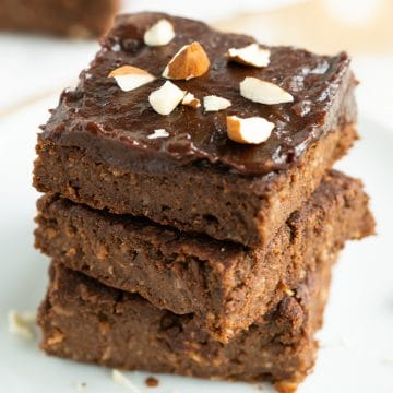 vegan gluten free sweet potato brownies