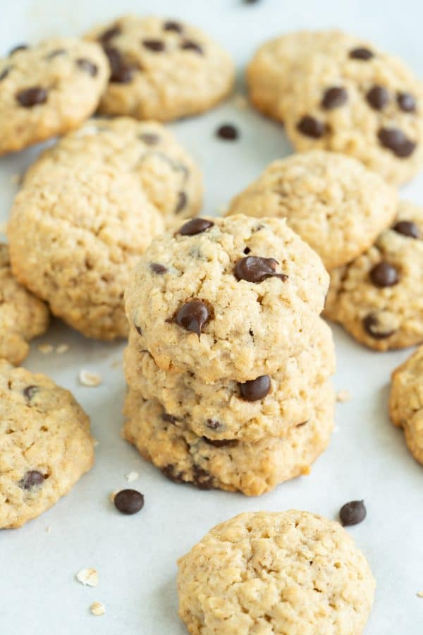 Soft and Chewy Chocolate Oatmeal Cookies