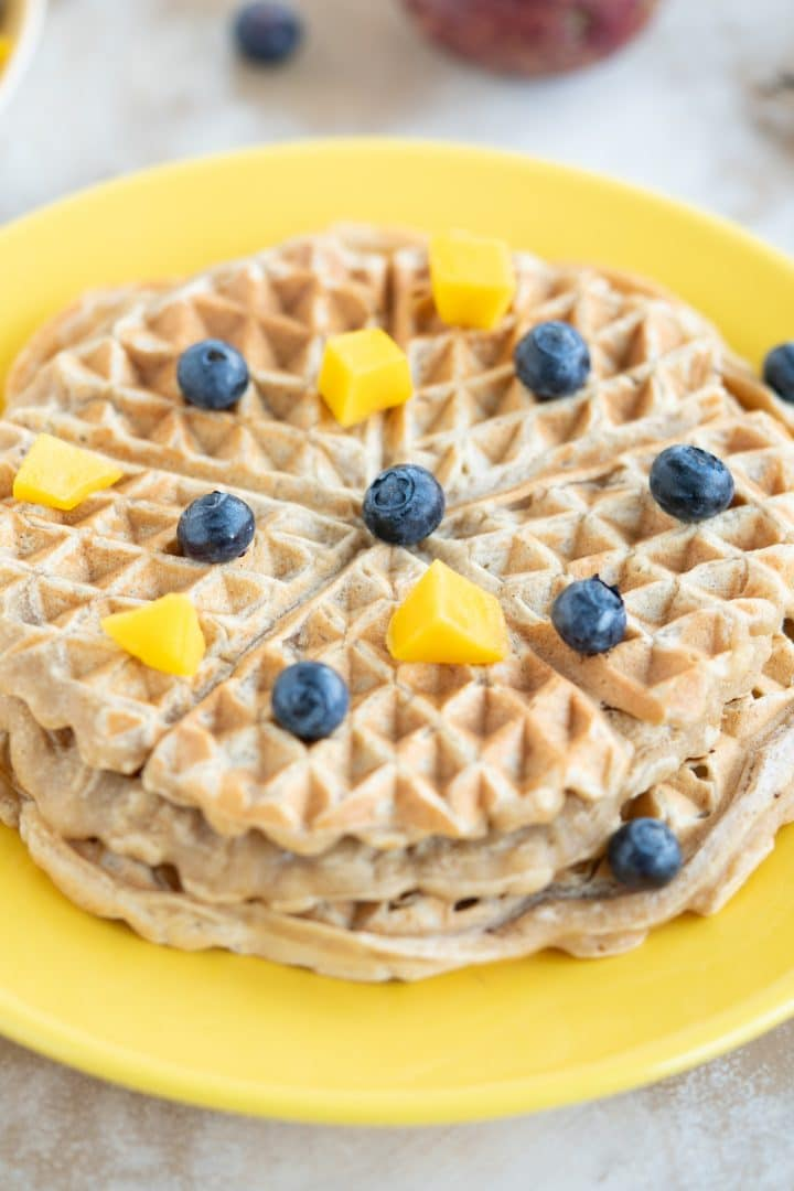Healthy vegan waffles without sugar