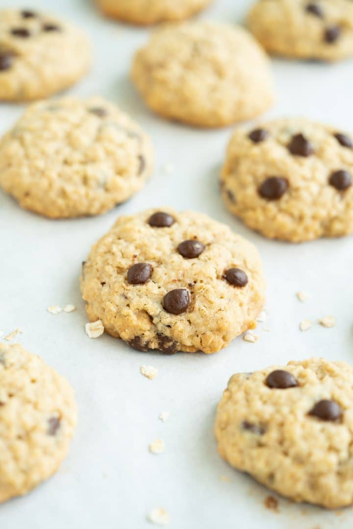 Simple oatmeal cookies with chocolate