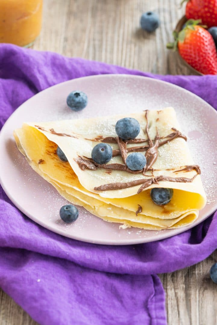 Crepes dough sweet