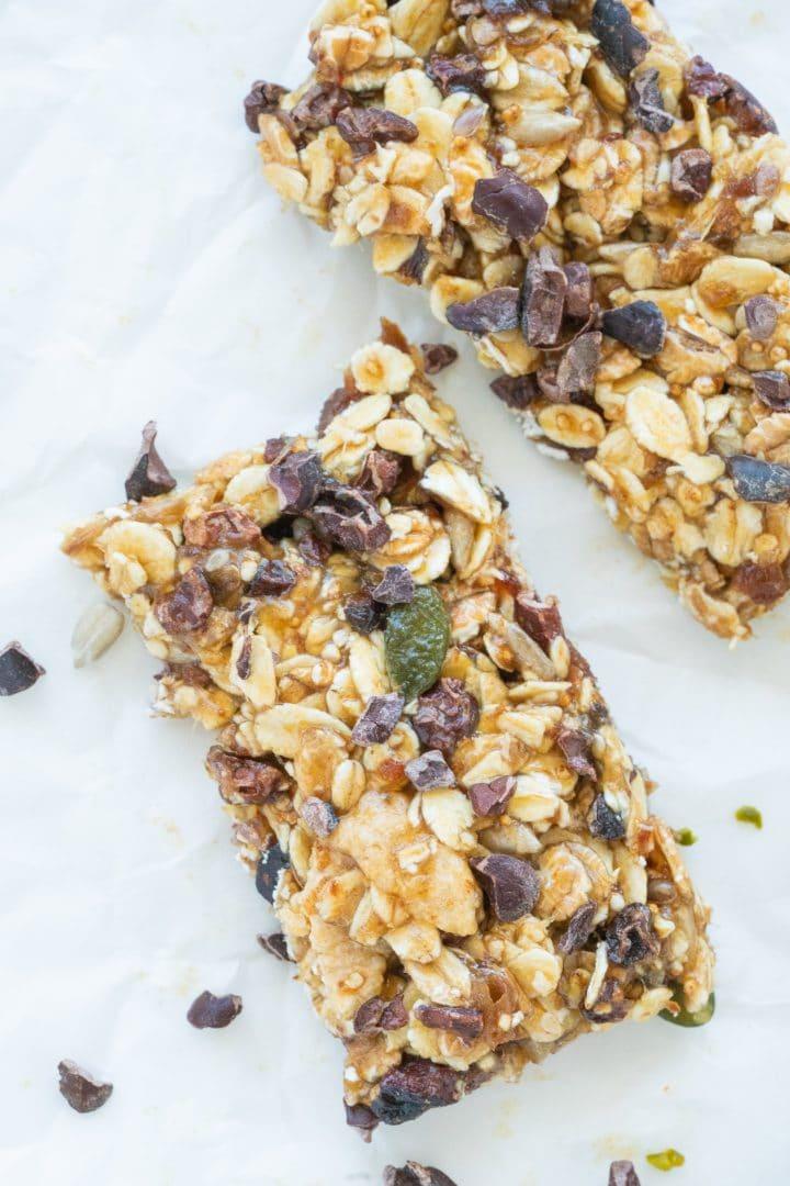 homemade healthy cereal bars easy recipe vegan