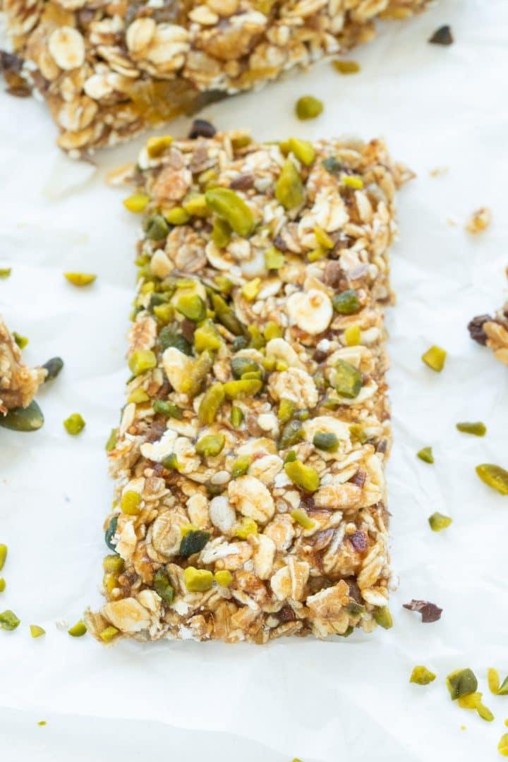 homemade healthy energy granola bar