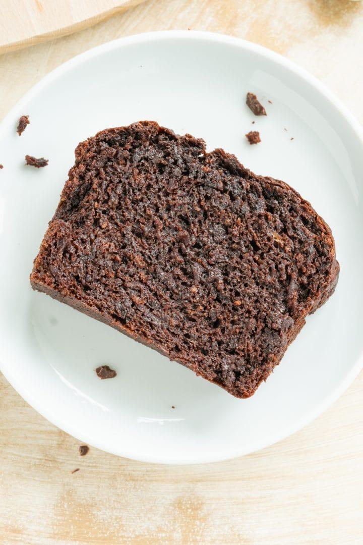 homemade juicy chocolate banana bread vegan