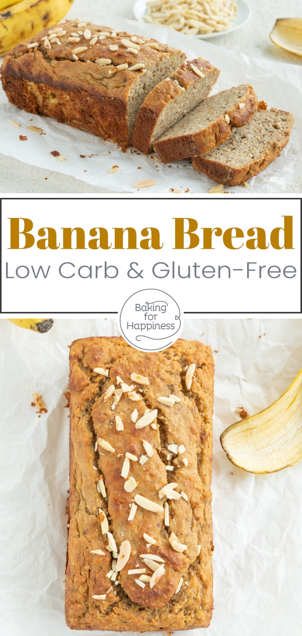This Low Carb Banana Bread is super moist and delicious. No one will notice that this Banana Bread is without sugar, flour and butter!