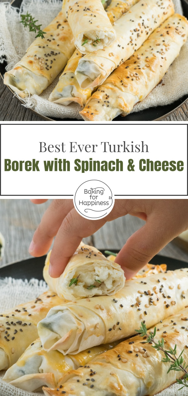 Turkish borek with spinach and cheese is a great turkish snack. With this recipe, you prepare the delicious borek quickly.