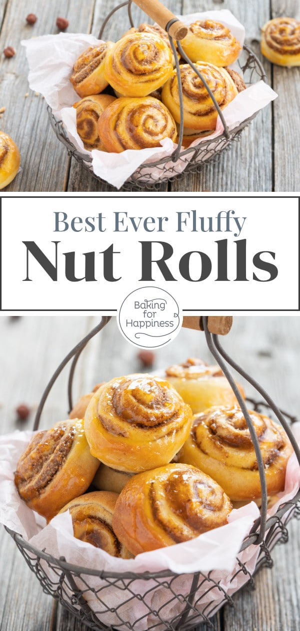 These tiny nut rolls with cinnamon filling are quick to make and taste just heavenly! A classic pastry that will definitely hit the spot!