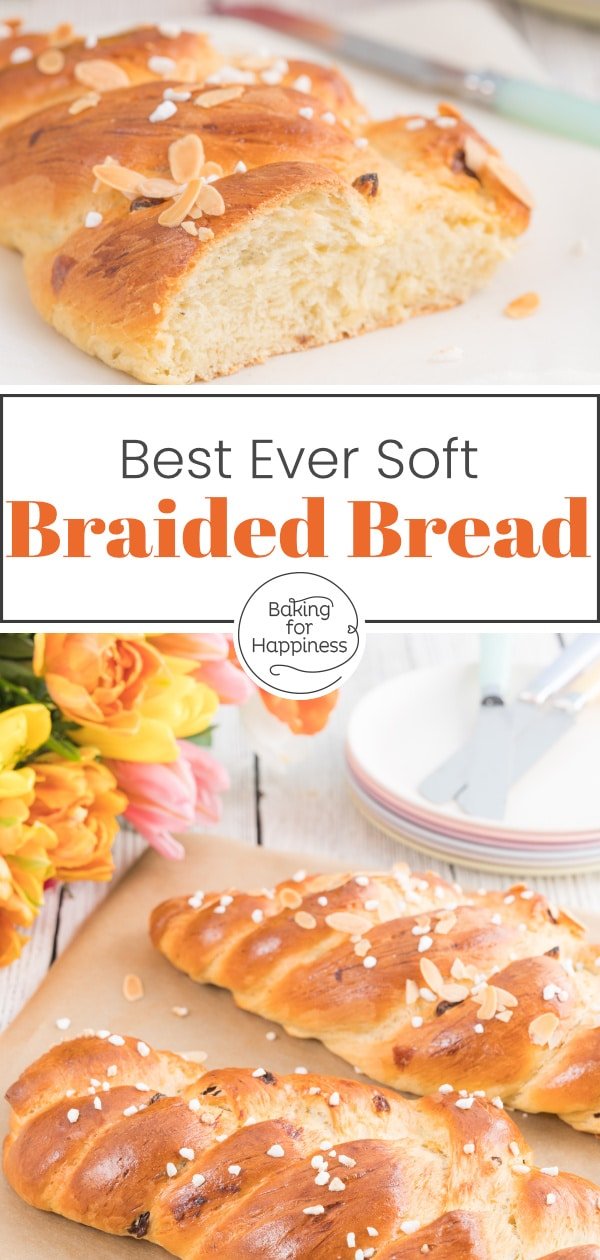 This soft and fluffy braided bread is in no way inferior to the store-bought alternative from the bakery. Quite the opposite!