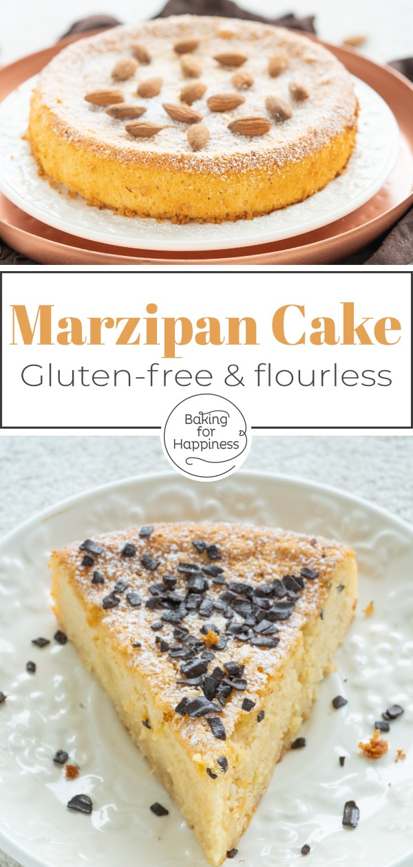 This easy two-ingredient marzipan cake becomes wonderfully moist, airy and delicious. You can also make the cake low carb and sugar-free.