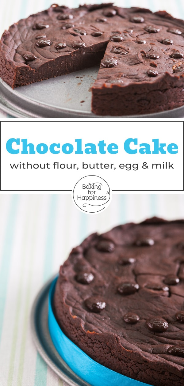 Great vegan gluten-free chocolate cake: This healthy cake without flour, butter, egg, milk and industrial sugar is perfect for vegans & allergy sufferers!
