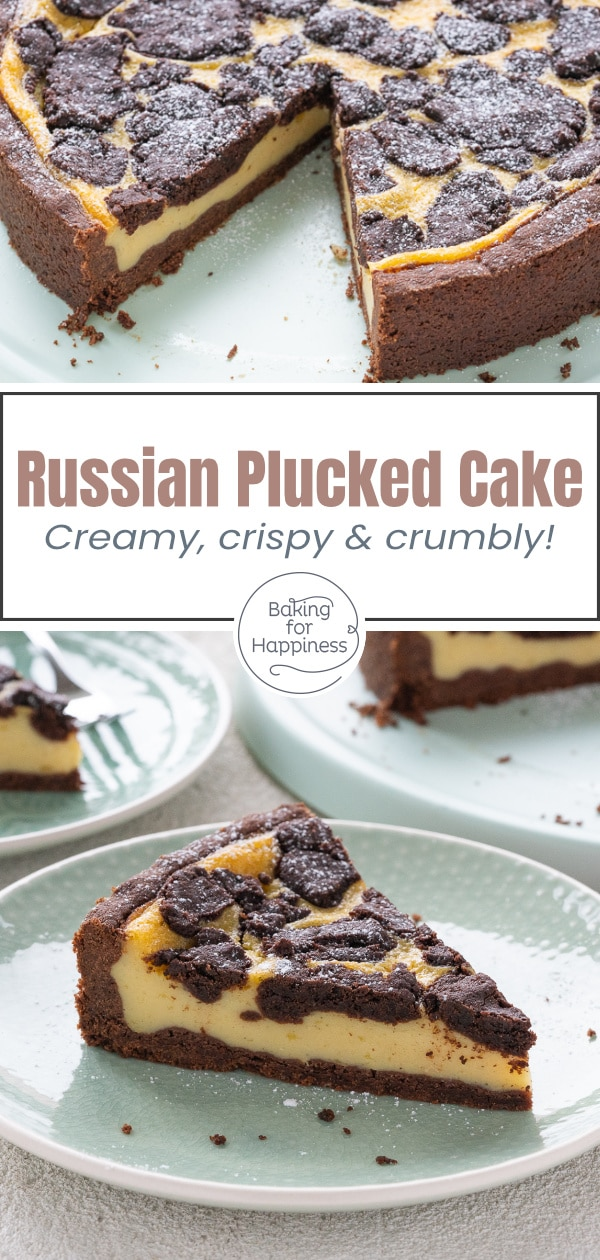 This vegan russian plucked cake is a delicious alternative to the popular classic: the plucked cake without butter, egg and curd is perfect!