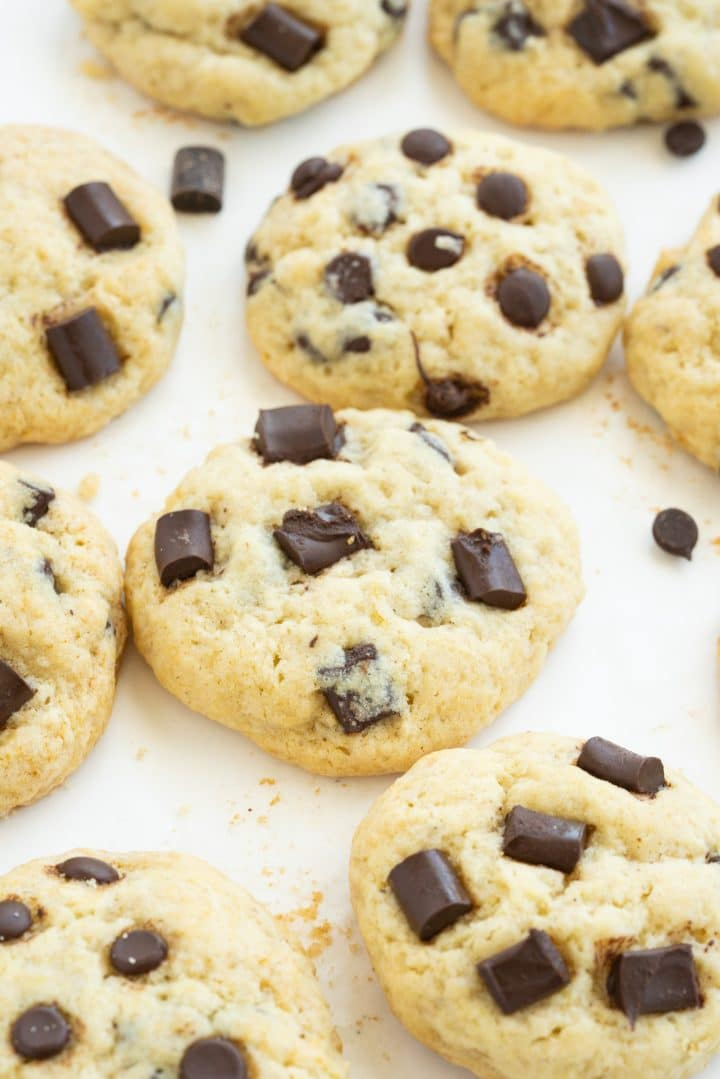 chocolate chip cookies without milk, butter and eggs