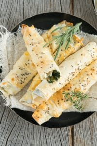 Turkish Borek with Spinach and Cheese