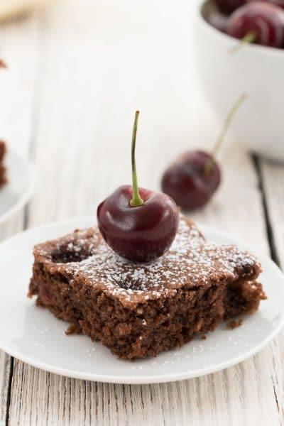 Easy Chocolate Cherry Sheet Cake