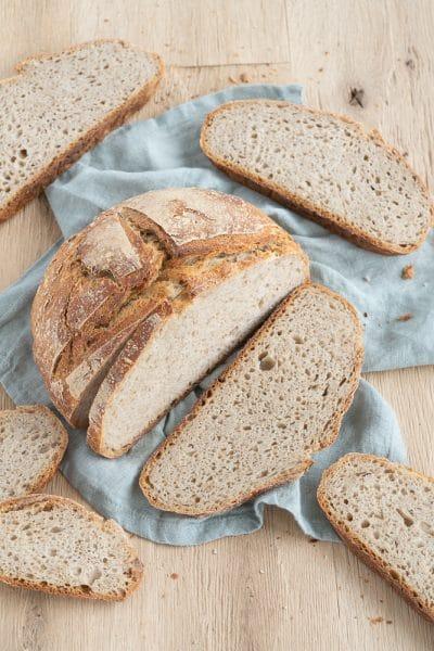 Easy Sourdough Peasant Bread